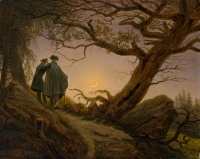 'Two Men Contemplating the Moon' by Caspar David Friedrich