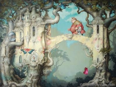 Daniel Merriam's surrealist watercolor dreamscapes make for great visual inspiration