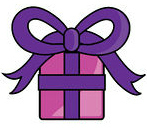 78993-Royalty-Free-RF-Clipart-Illustration-Of-A-Pink-And-Purple-Wrapped-Birthday-Gift