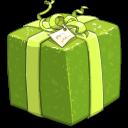 shiny-green-present