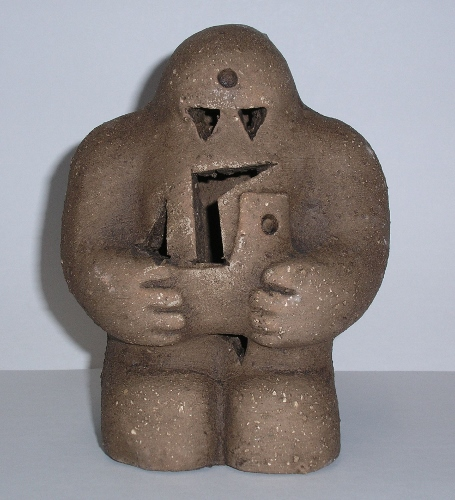 The golem is a creature from Jewish folklore, and part of its characteristics are used in this installment. I also made use of its modern definition, so the golem coming after Sheridan is also a lumbering idiot.