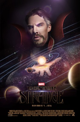 Fan-made poster of Benedict Cumberbatch as Dr. Strange. If I were to fan cast Eric as a superhero, I'd kill to see him as the Sorcerer Supreme. He has to be an adult, though; otherwise, he'd destroy the whole planet with his still-raging teen hormones ruling his head.